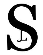 S. J. L. Logo Black