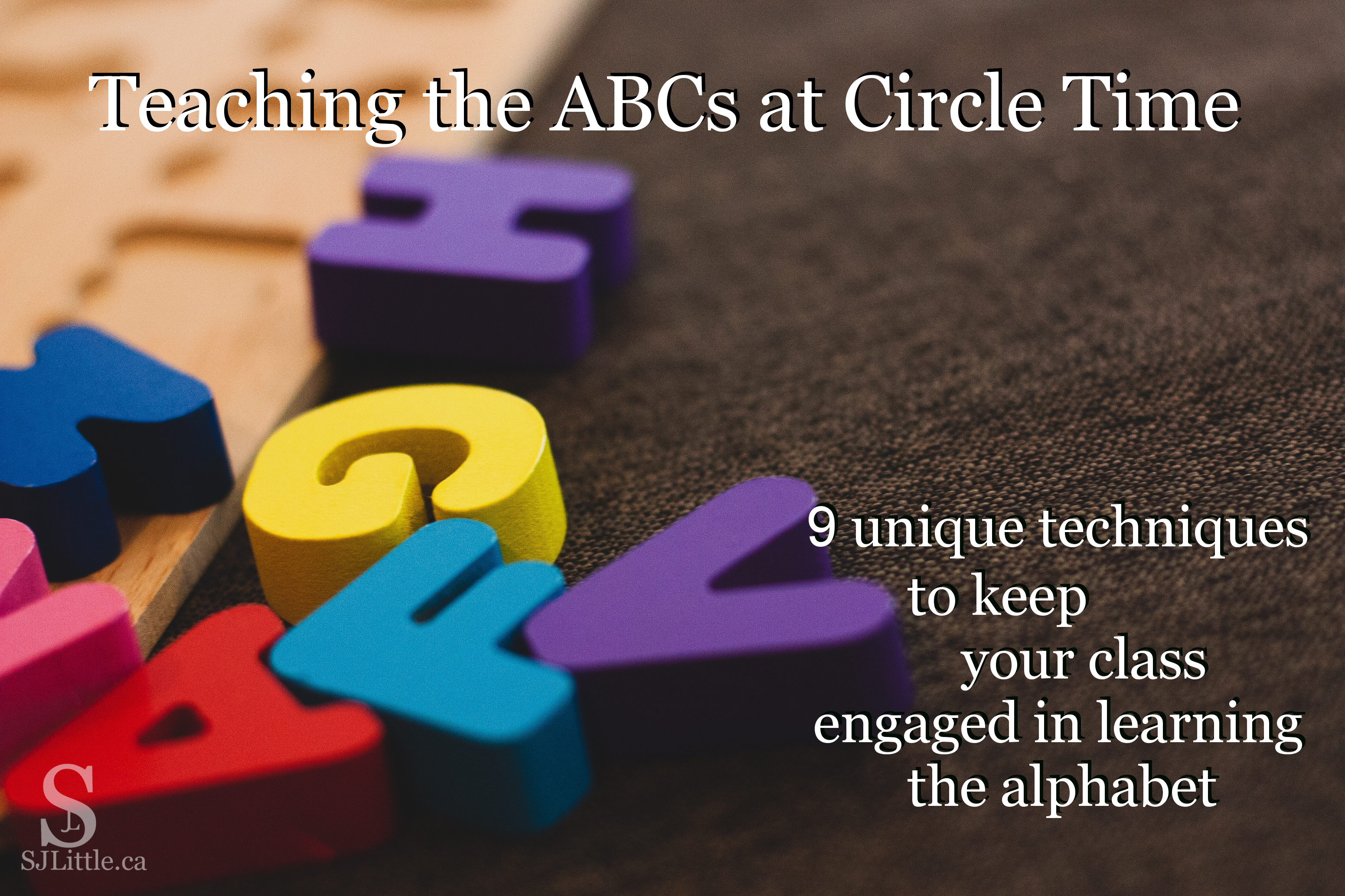 Teaching ABCs by S. J. Little with picture of alphabet puzzle