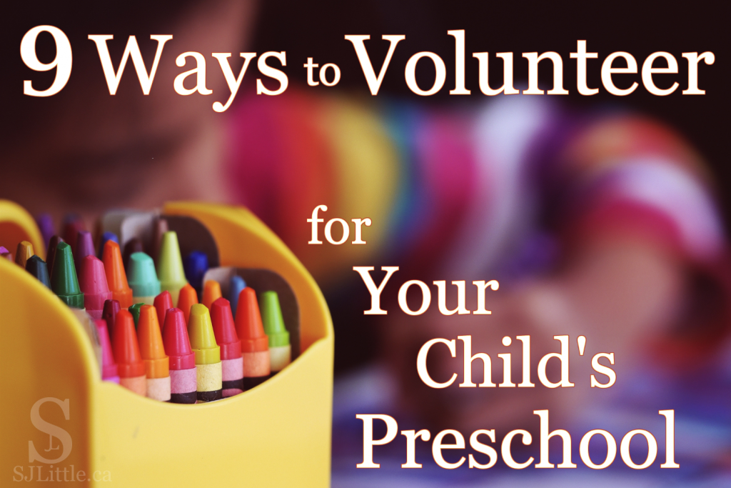 9 Ways to Volunteer for Your Child's Preschool