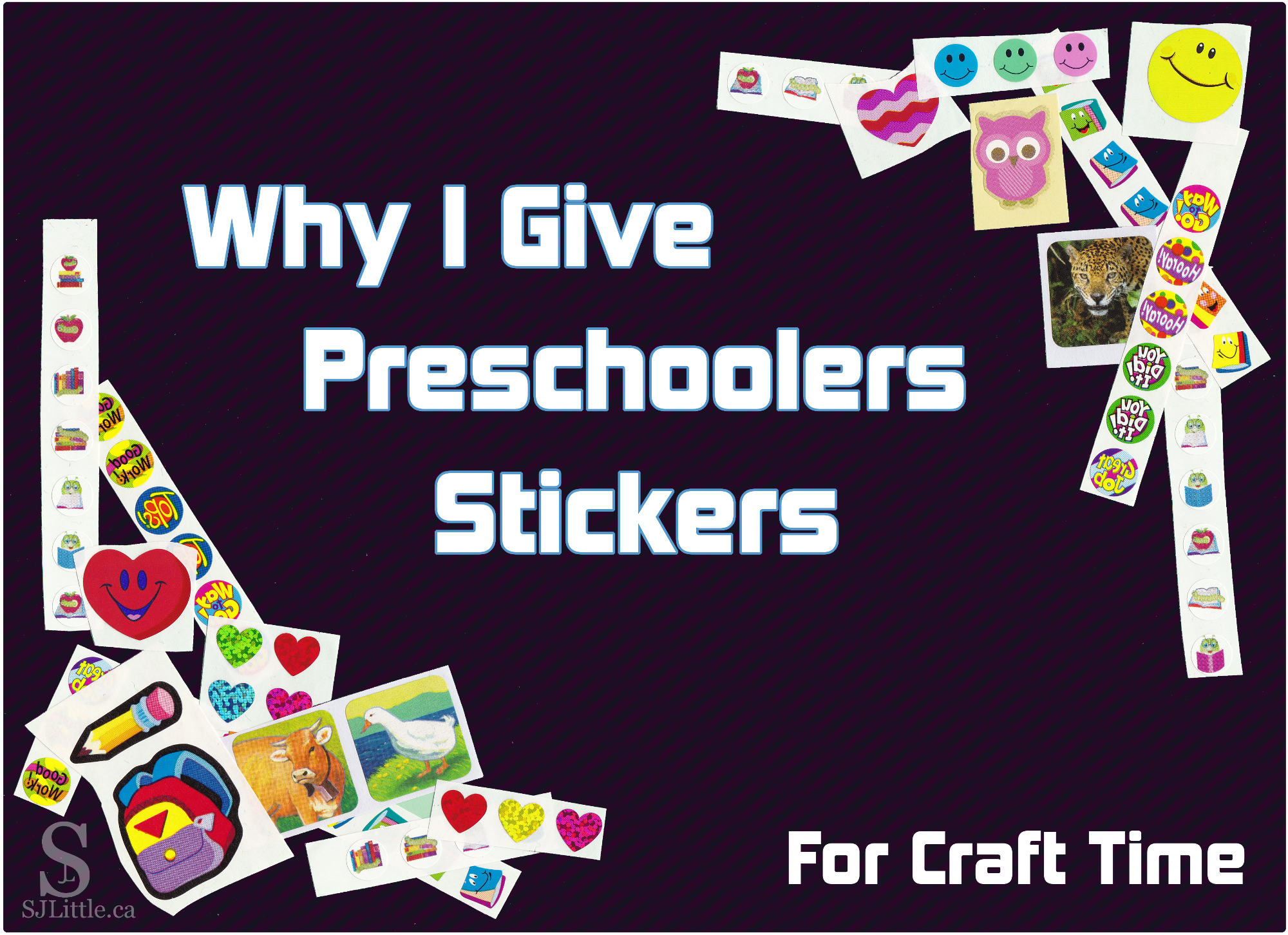 Why I Give Preschoolers Stickers for Craft Time - post by S. J. Little