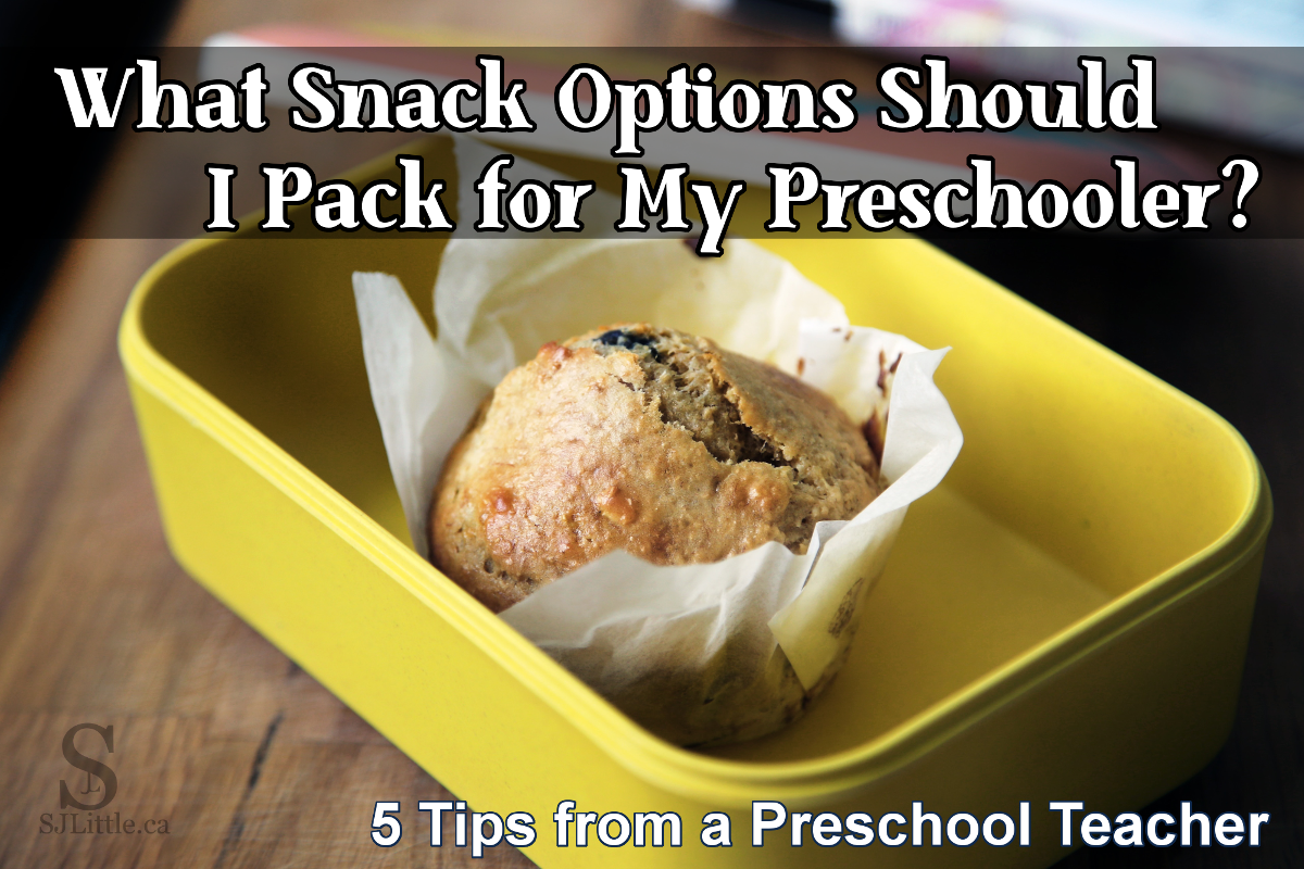 Muffin packed in preschool snack box