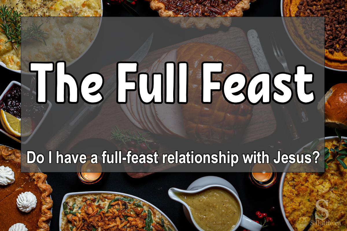 "Christmas Dinner behind title ""The Full Feast"""