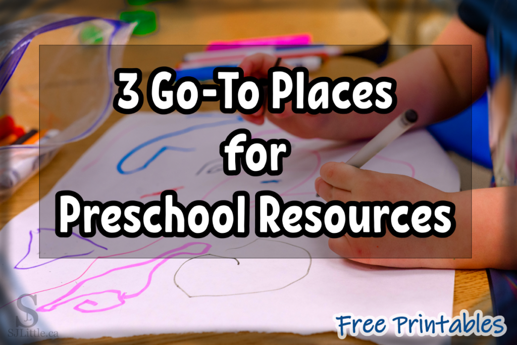 3 Go-To Places for Preschool Resources