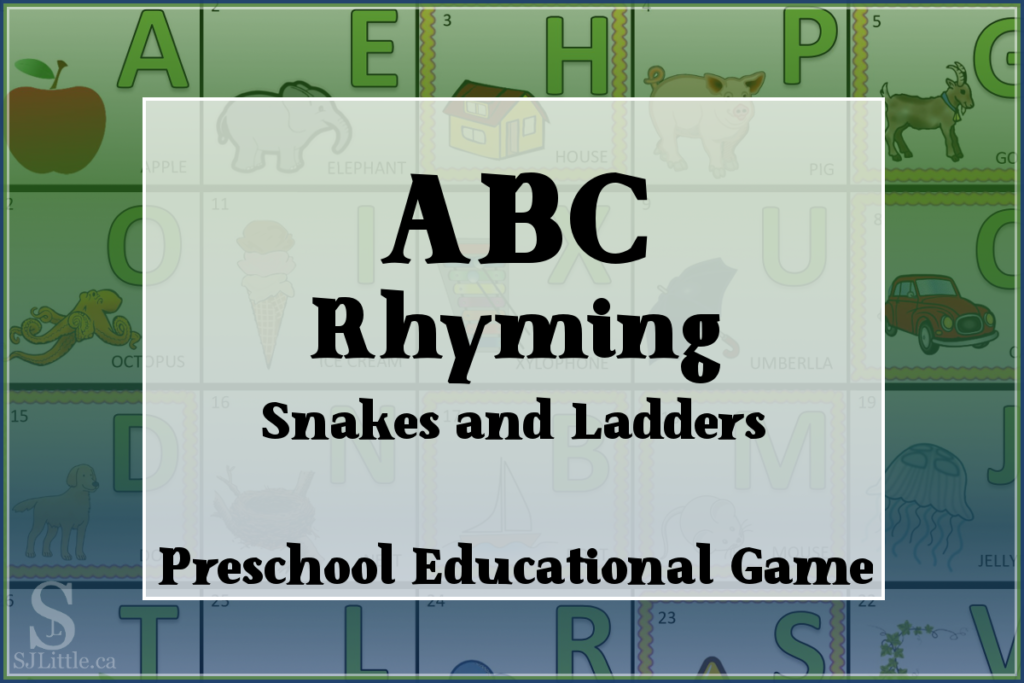 ABC Rhyming Snakes and Ladders Game