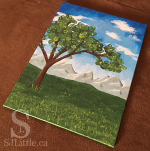 Tree painting by S. J. Little